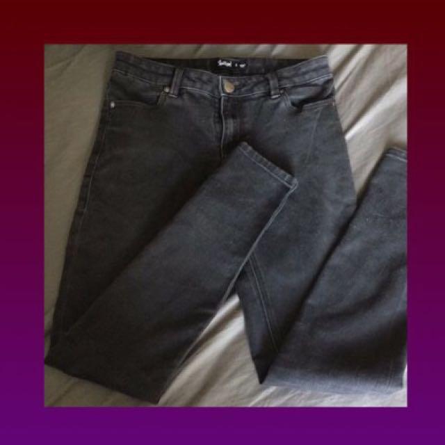 black sportsgirl jeans