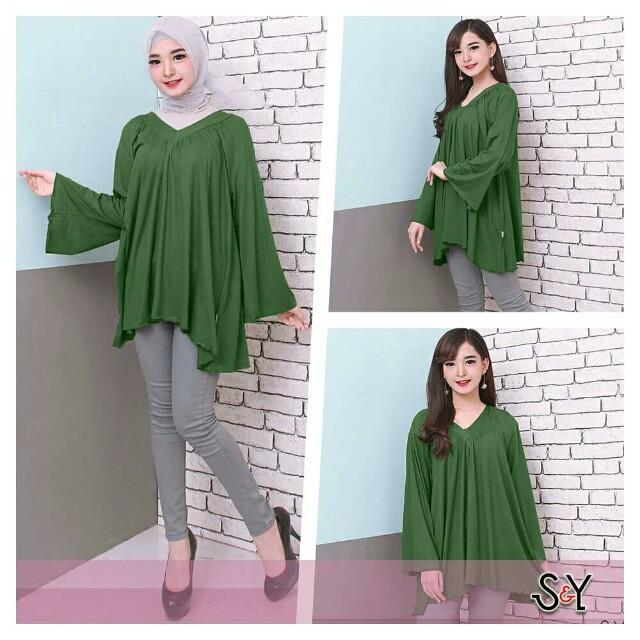 Blouse wanita Jumbo ladies baju wanita big size blouse big size ... 1cab2ce3f3