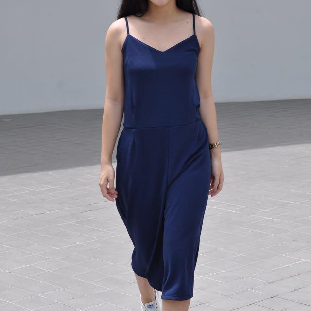 Blue Culottes Jumpsuit (SALE!!!)