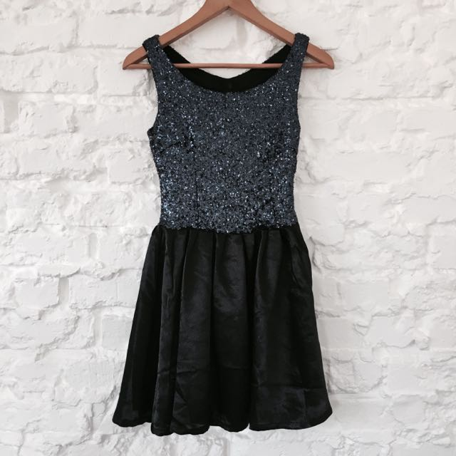 Blue Sequinned Party Dress