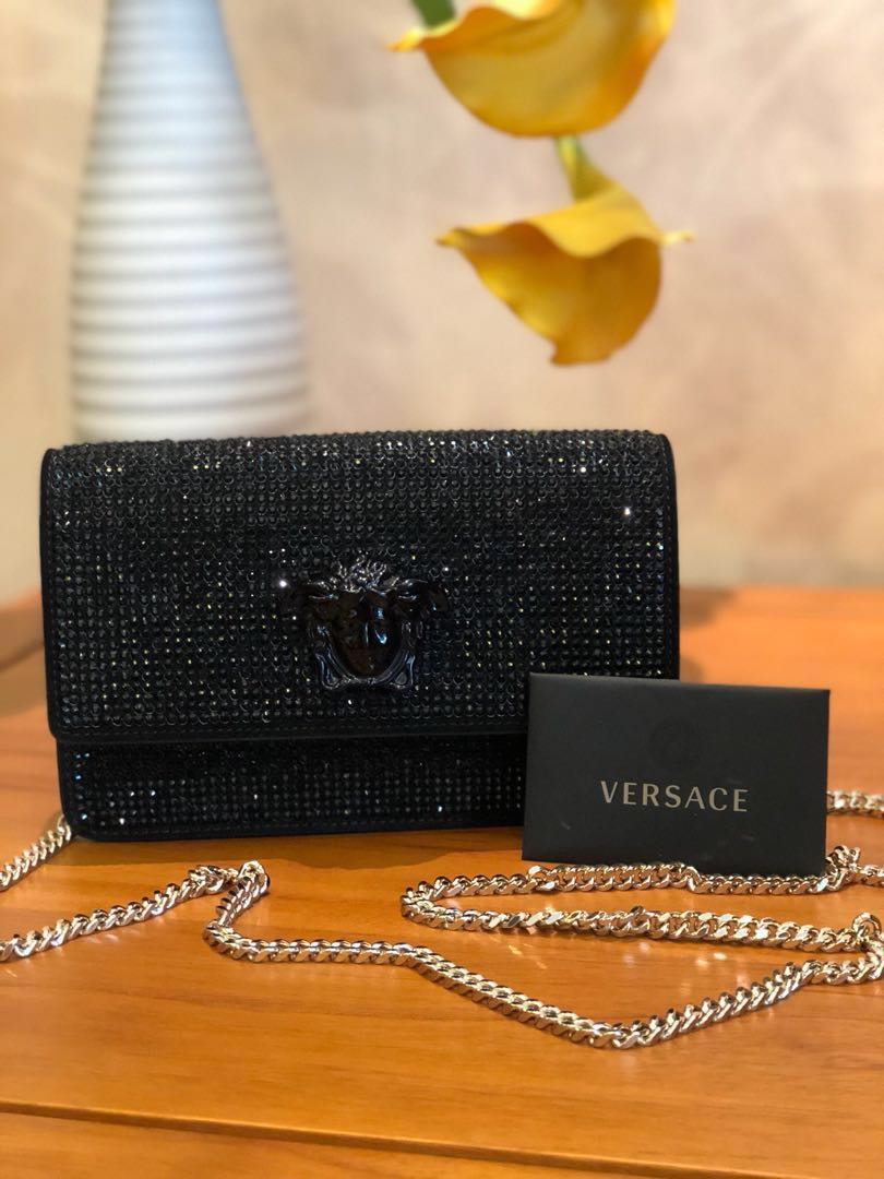 7dcc8bd25f BN Authentic Versace Crystal Palazzo Evening / Clutch Bag, Women's ...