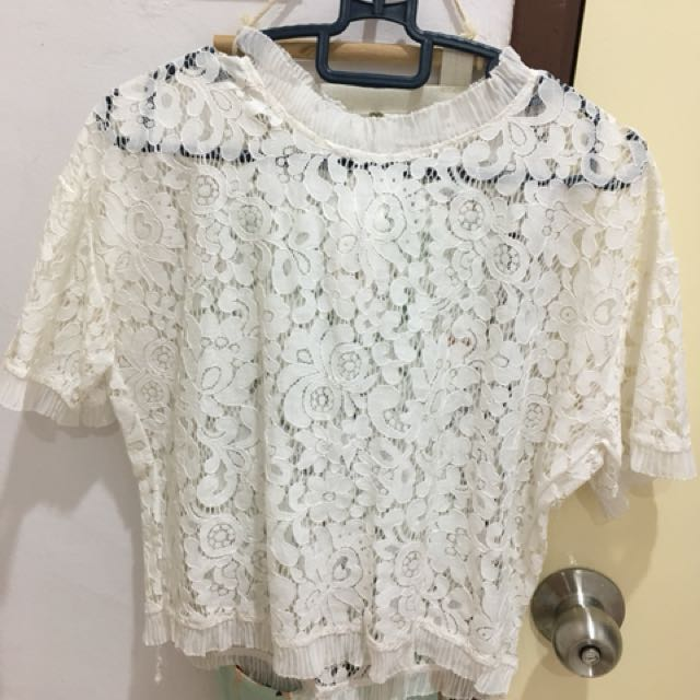 BN lace white top