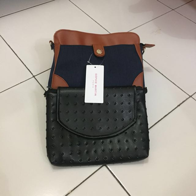Bundling 2 Tas, Sophie Martin & Sling Bag (Free Ongkir Jabodetabek)