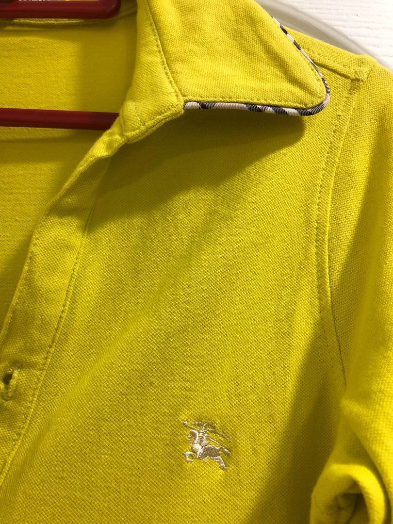 Burberry lime green cotton tee