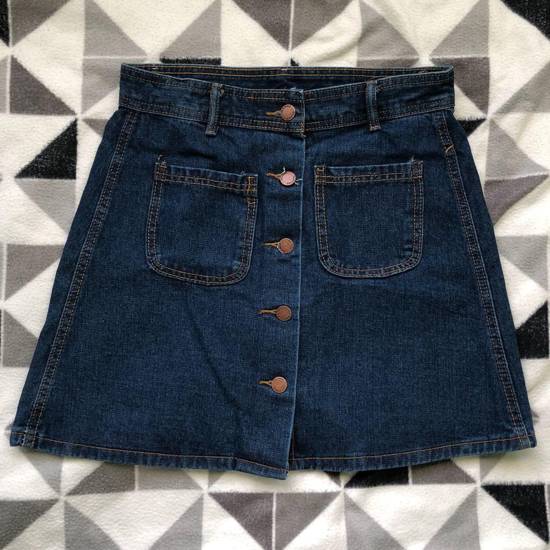 Button down A line skirt