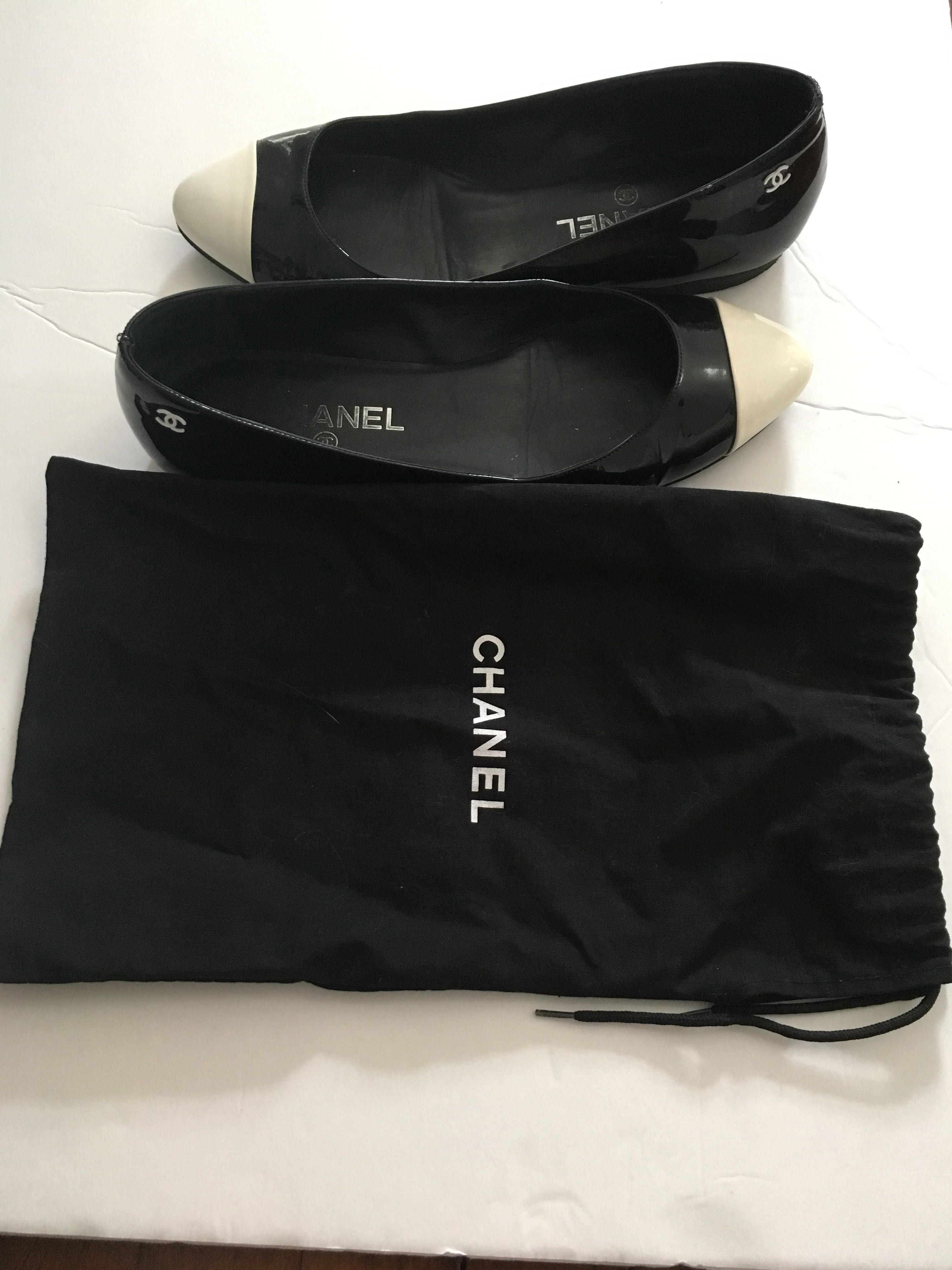 Chanel Cap Toe Ballet Flat