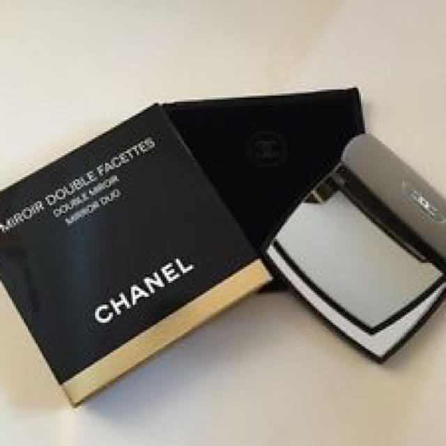Chanel mirror duo luxury black hand mirror