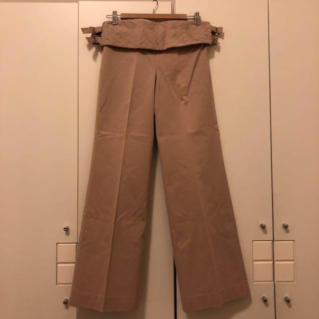 Chloé 米色寬褲