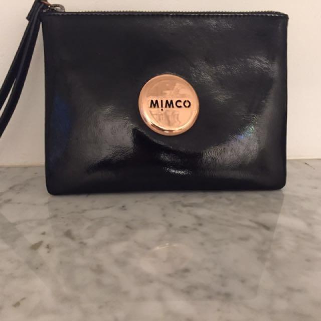 Classic Black Wristlet Mimco Pouch
