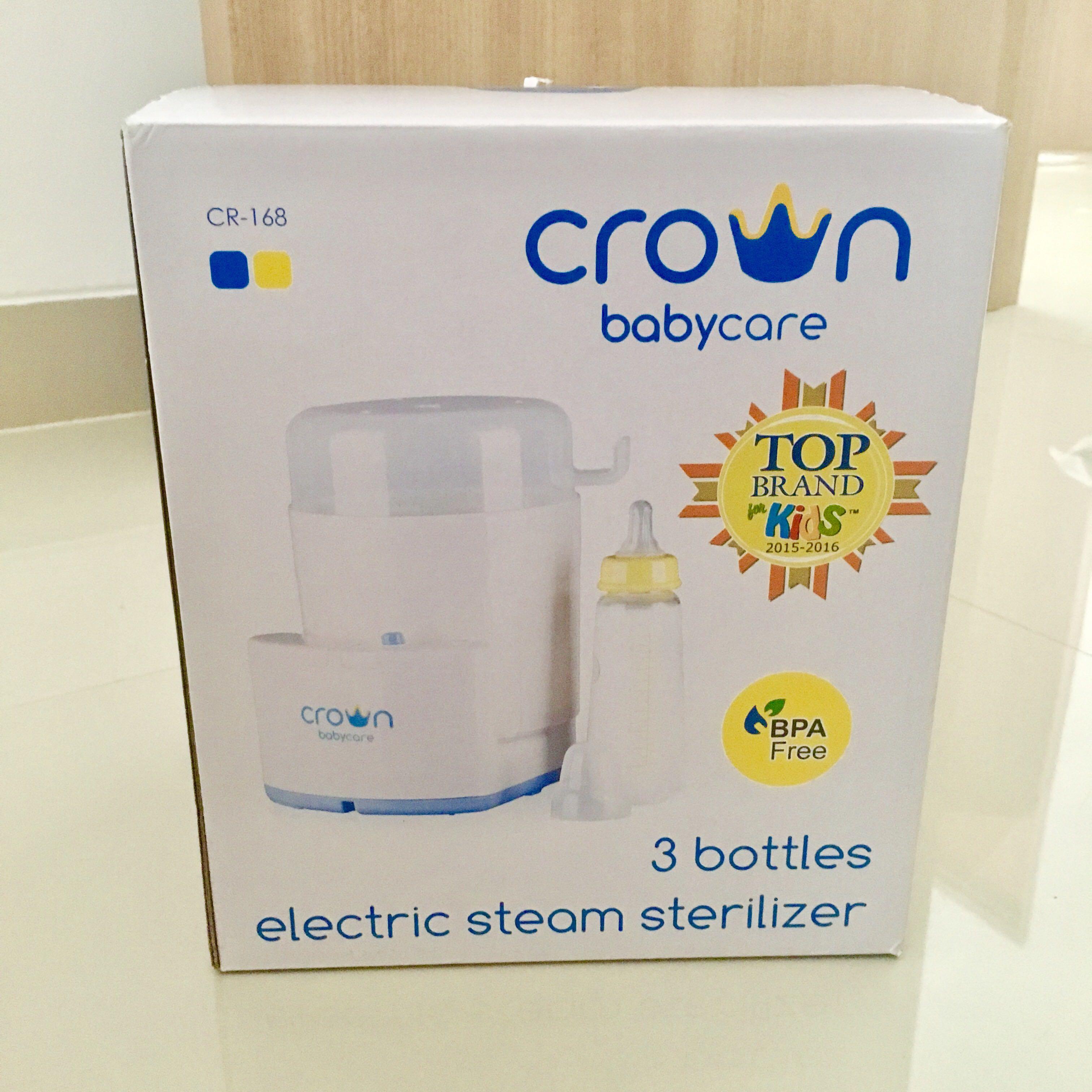 Crown 3 bottles electric steam sterilizer