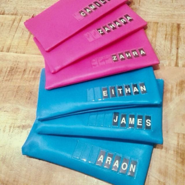 Custom made Name kids pencil cases...Great for kids parties favours...$10 each