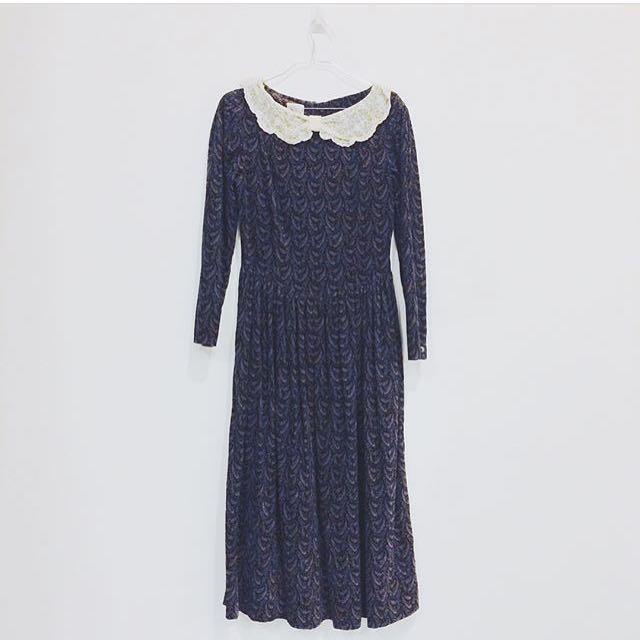 [D57] Vintage Long Dress
