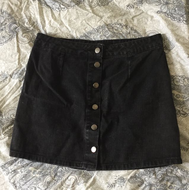 Dotti, Grey Denim Mini Skirt, Size 12