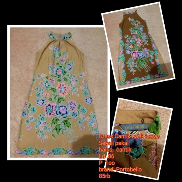 Dress Cantik batik lawas