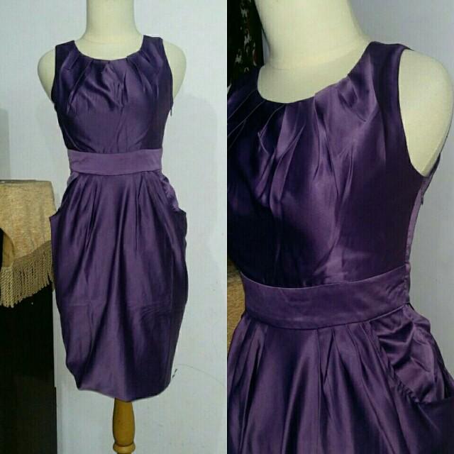 Dress ungu silk