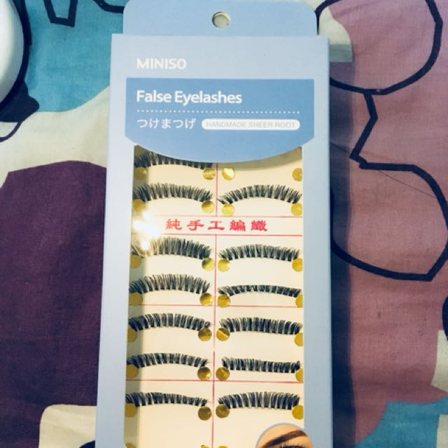0197dda3776 fake eyelashes from miniso, Health & Beauty, Makeup on Carousell