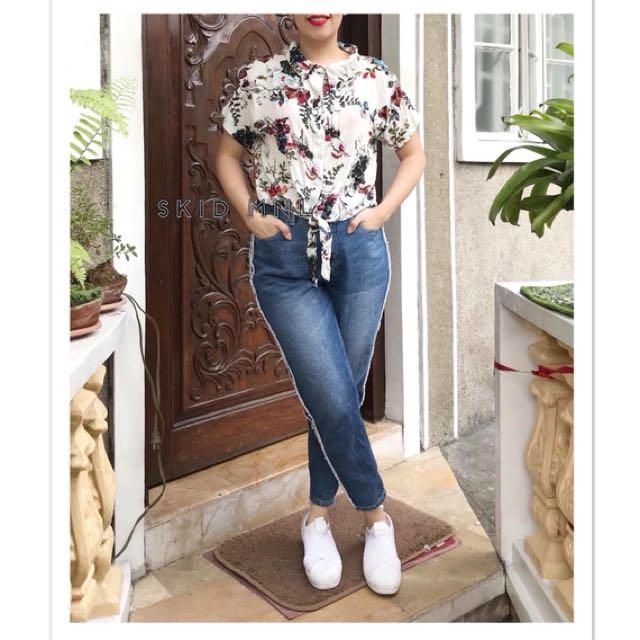 Floral Buttondown Top