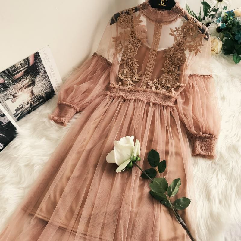 Floral lace dress + inner