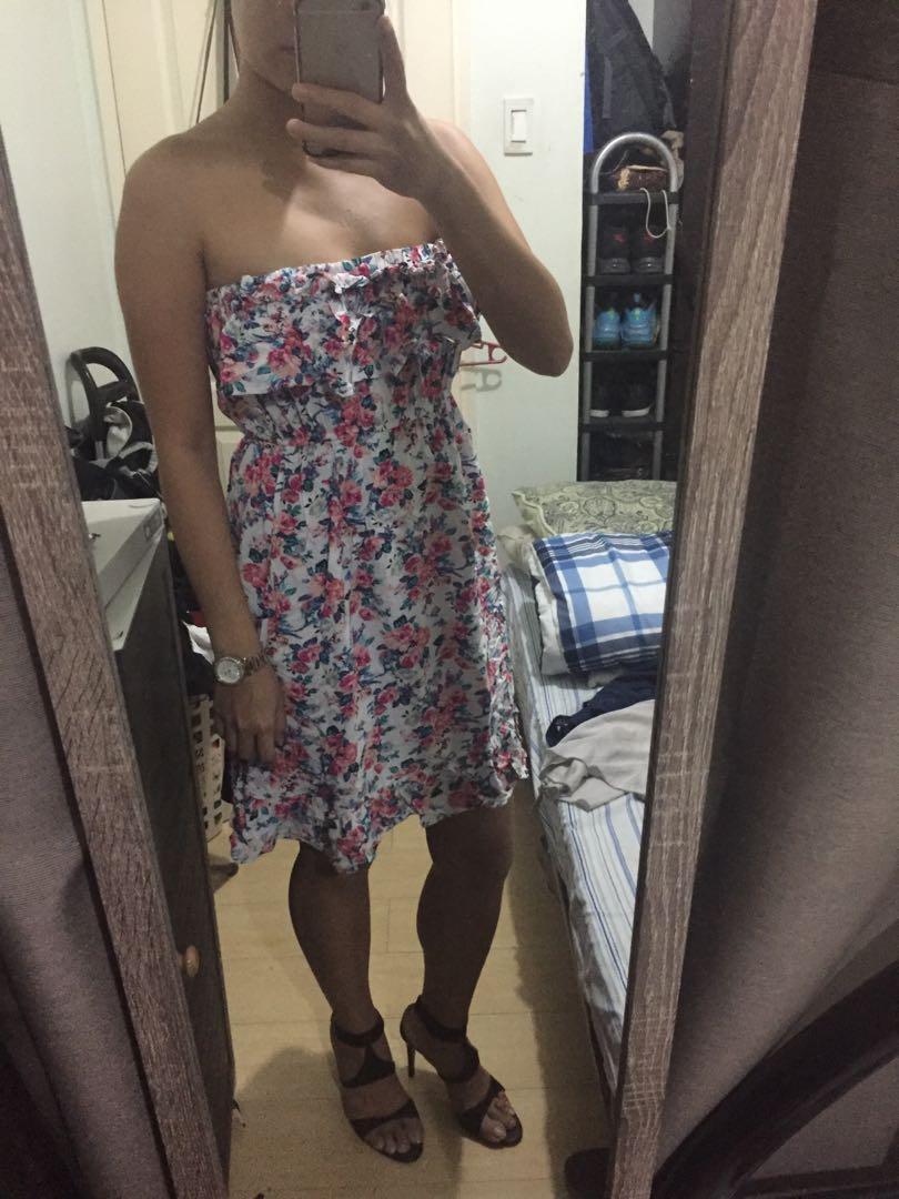 floral tube summer dress