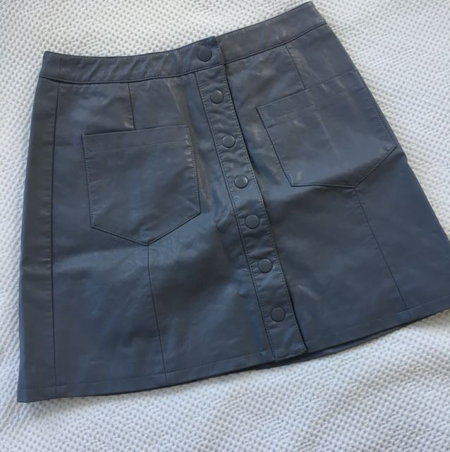 Glassons Leather Skirt - Size 8