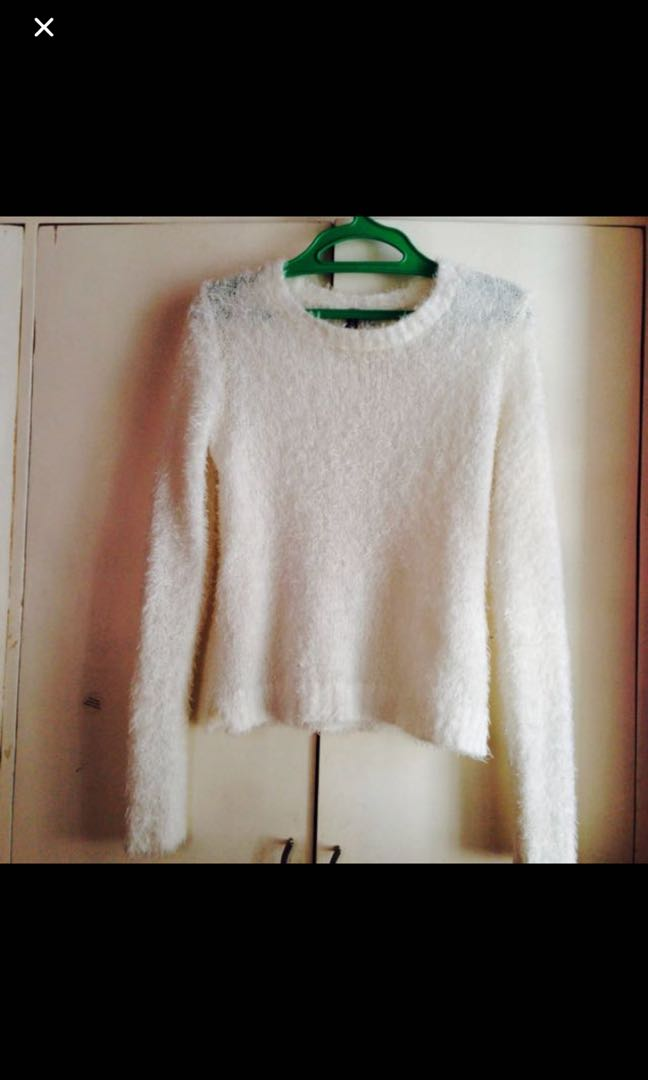 H&M knitted fur sweater