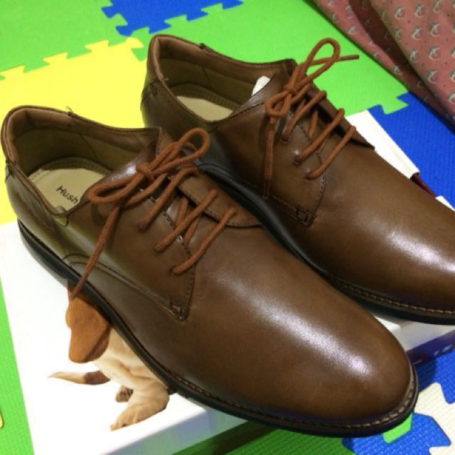 Hush Puppies Brown Bronze Black Leather Shoes