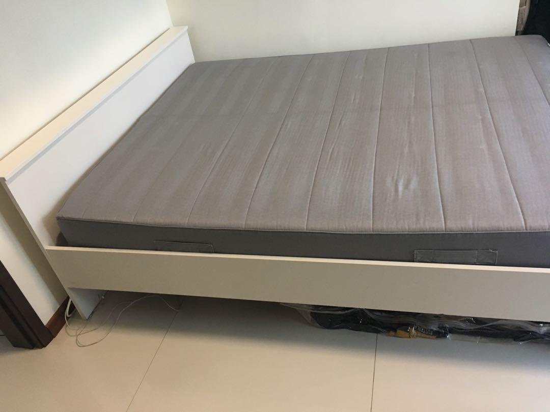 Ikea Sultan Mattress And Hamar Bedframe Furniture Beds Mattresses On Carousell