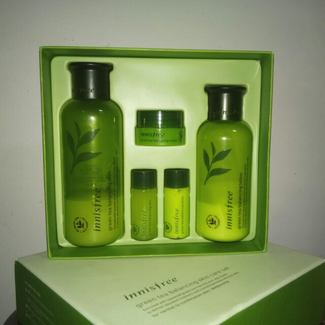 Innisfree greentea balancing skin care set