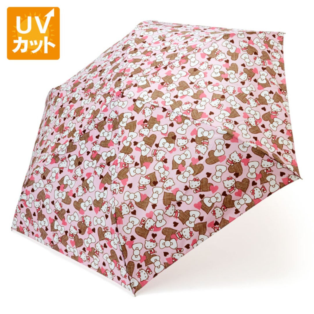 59d22a76c3 Japan Sanrio Hello Kitty Rain and Shade Folding umbrella