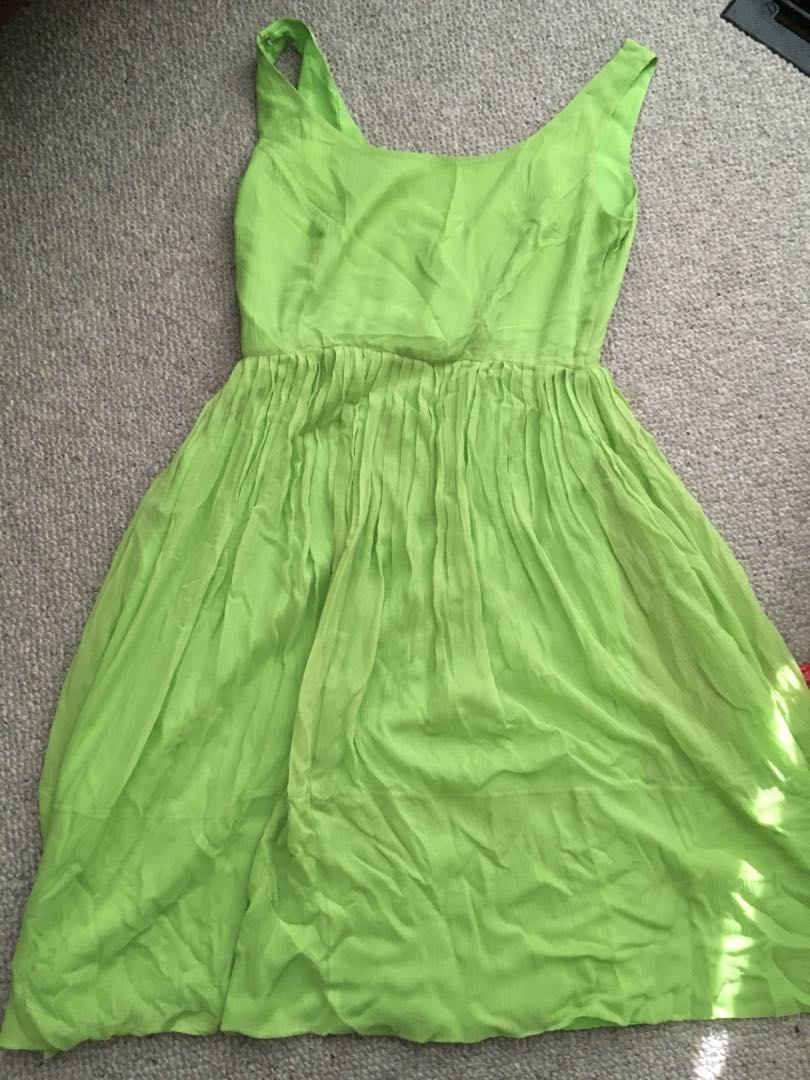 JCrew Green Chiffon Bridesmaid Dress Sz 4
