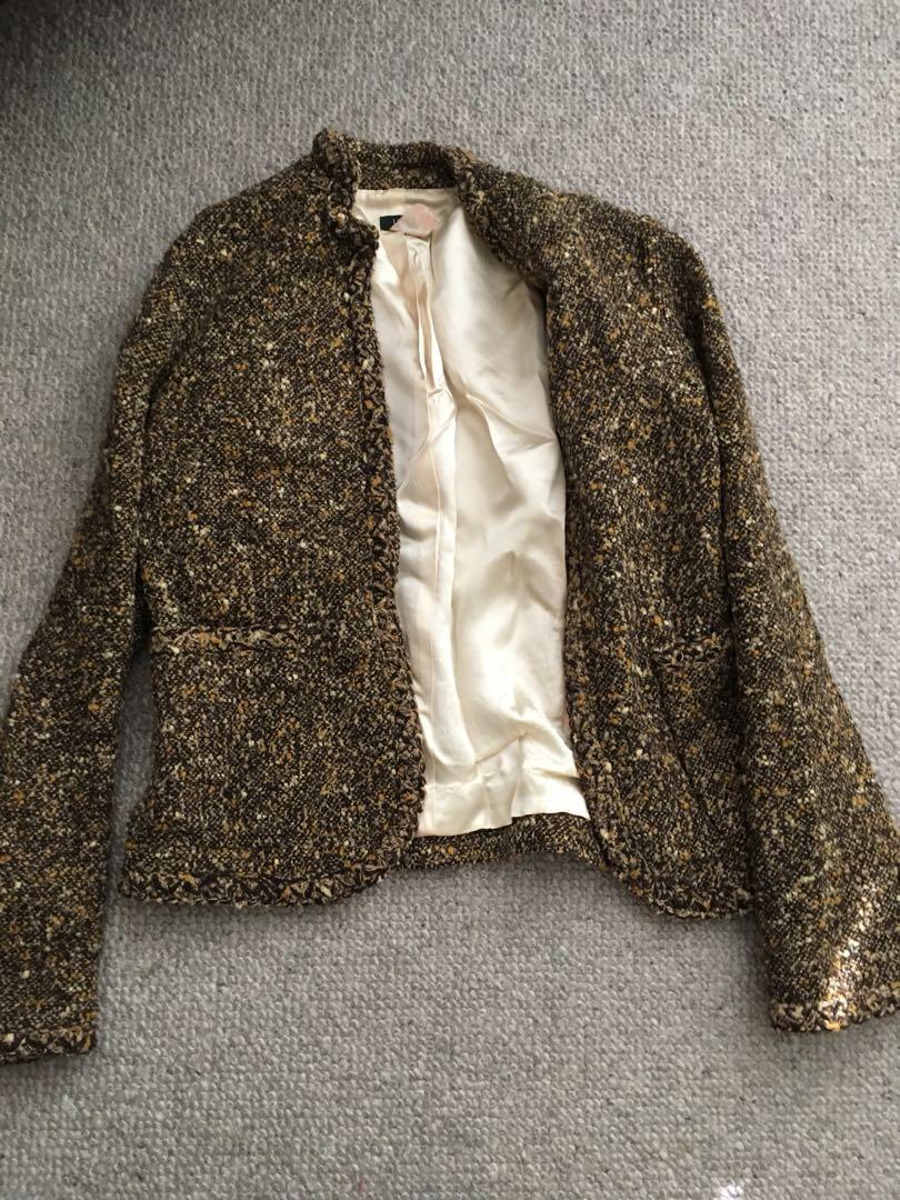 JCrew Silk Lined Jacket Sz S