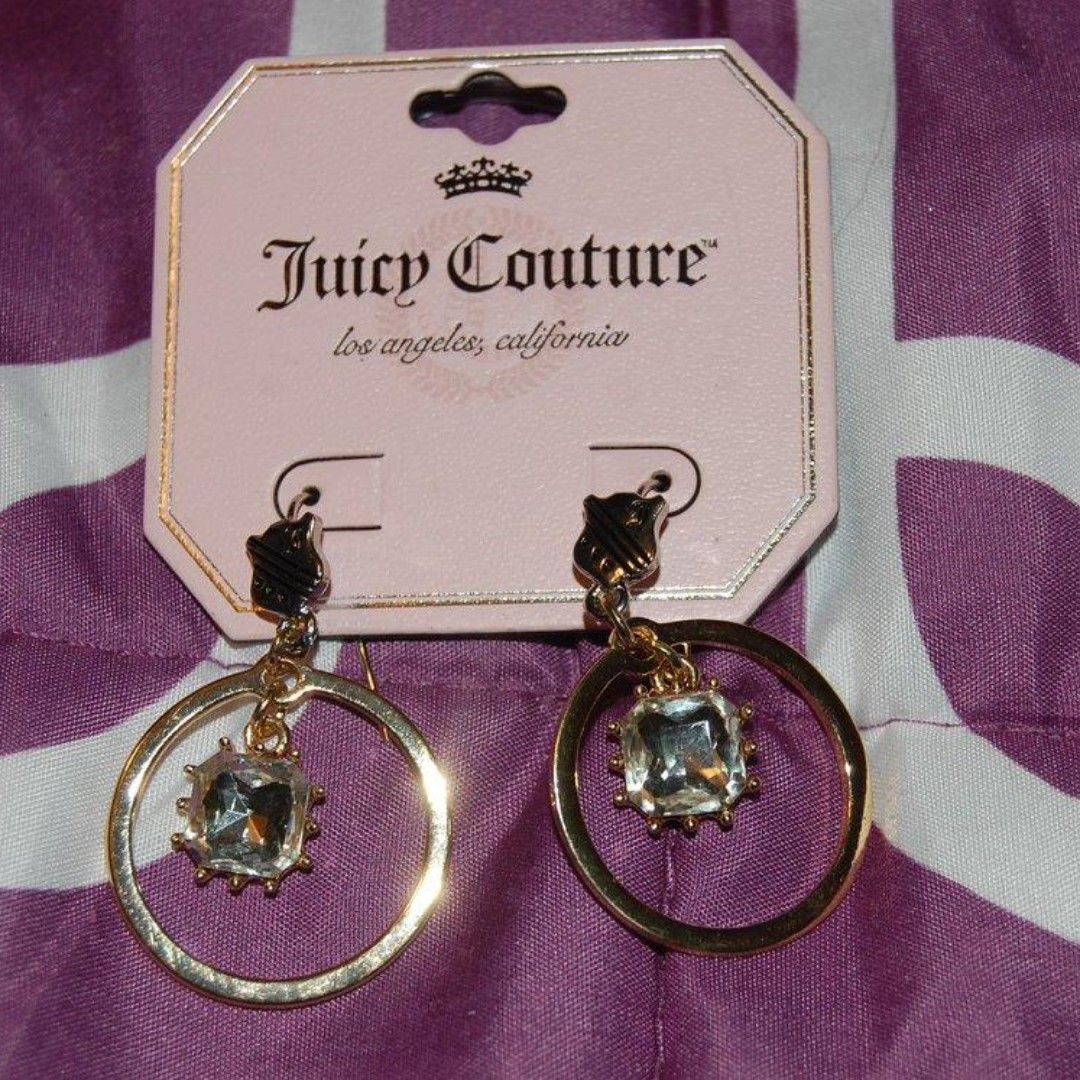 Juicy Couture Gold Tone Hoop Earrings Women S Fashion Jewelry On Carou