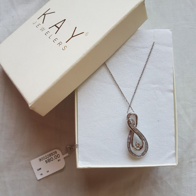 KAY JEWELLERS INFINITY NECKLACE