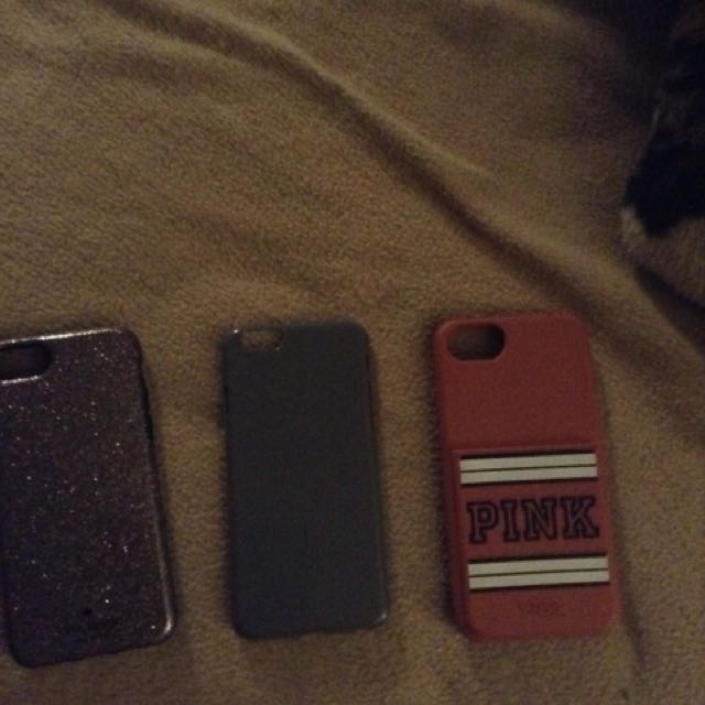 Late spade, grey case and love pink case
