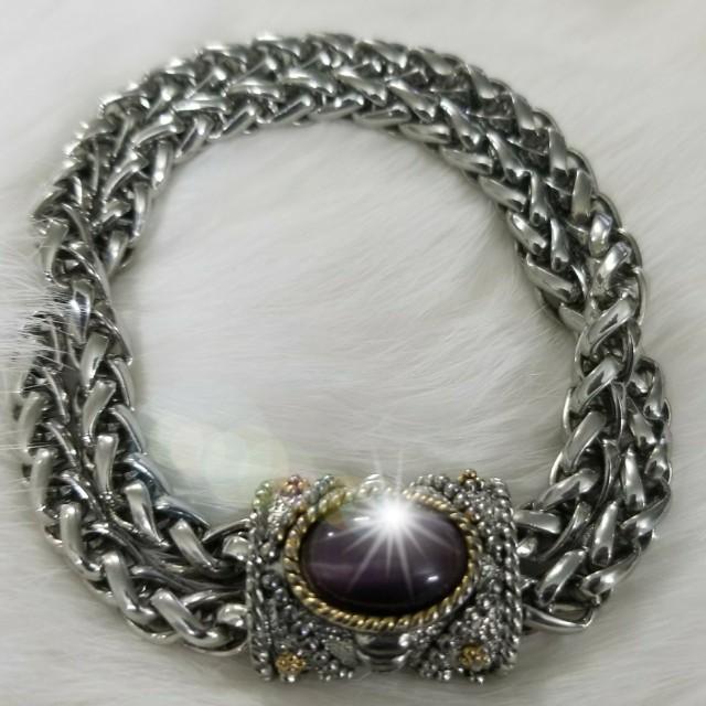 Like New Amethyst Color Stone Bracelet