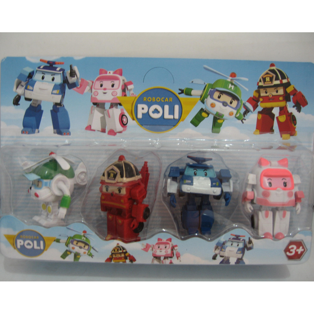 Robocar Poli 1 Set 4 Figure Lengkap Daftar Update Harga Mainan Photo