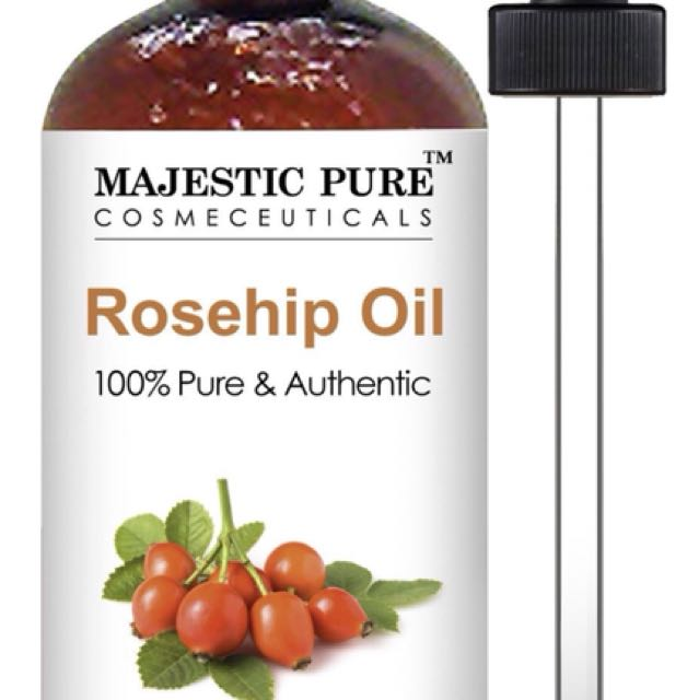 Majestic Pure 100% Rosehip Oil Cold-Pressed Organic