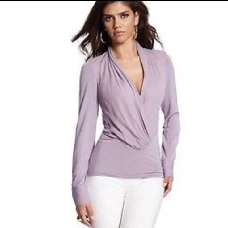 Marciano sweater blouse wrap shirt