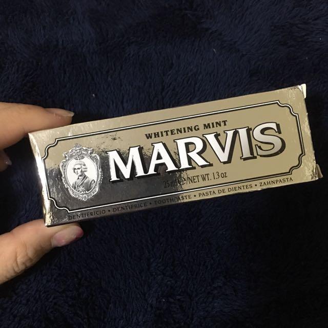 (全新)Marvis美白薄荷牙膏 25ml