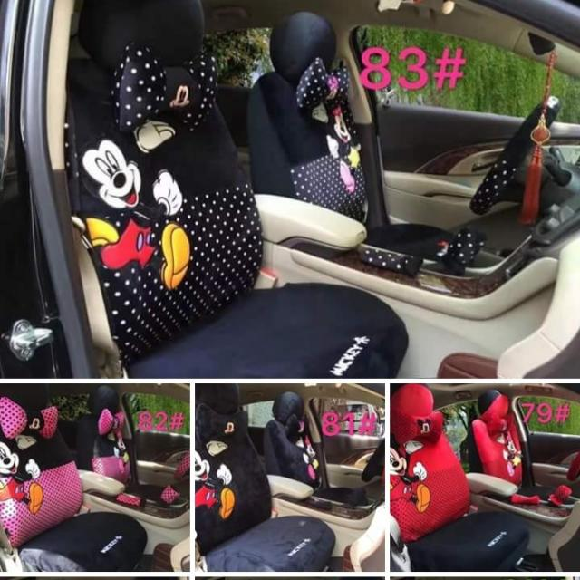 mickey and minnie mouse car seat cover auto accessories others on carousell. Black Bedroom Furniture Sets. Home Design Ideas