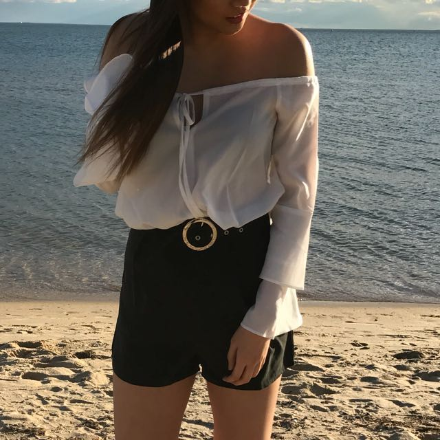 Missguided frill sleeve blouse