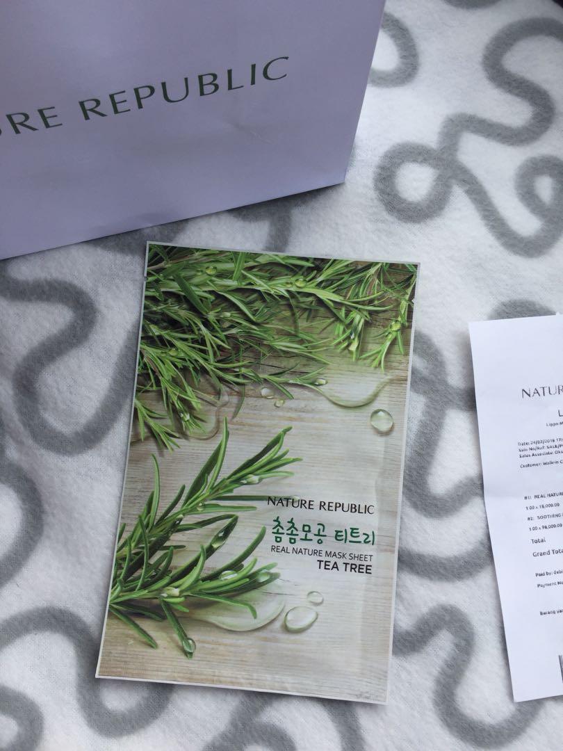 Nature republic tea tree mask
