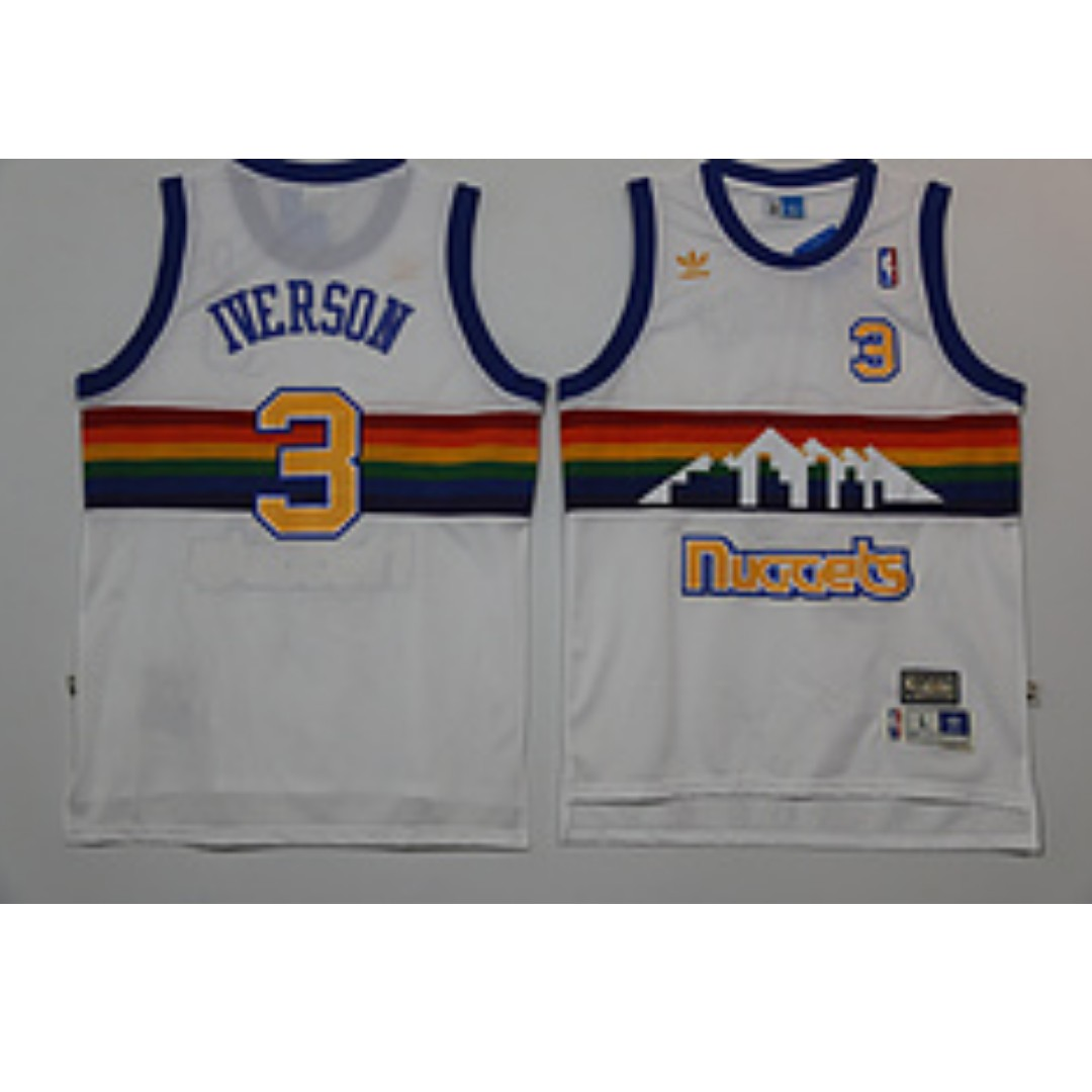 cb775d139ae NBA Denver Nuggets Allen Iverson Swingman Jersey, Sports, Sports Apparel on  Carousell