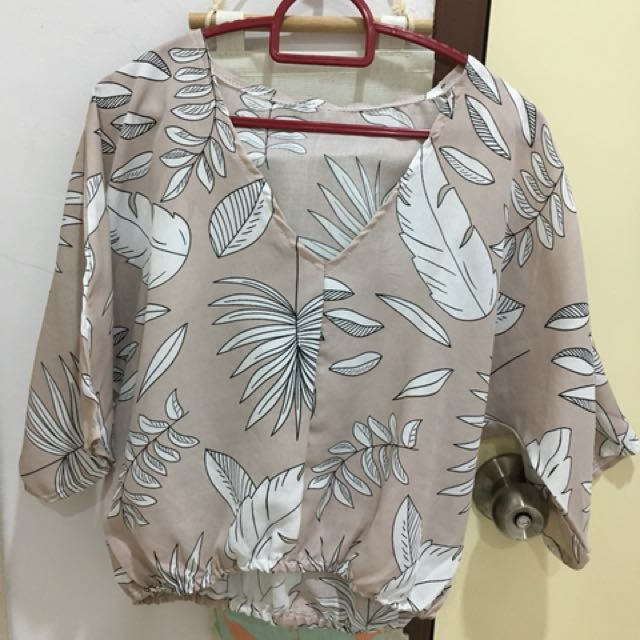 New leafy blouse