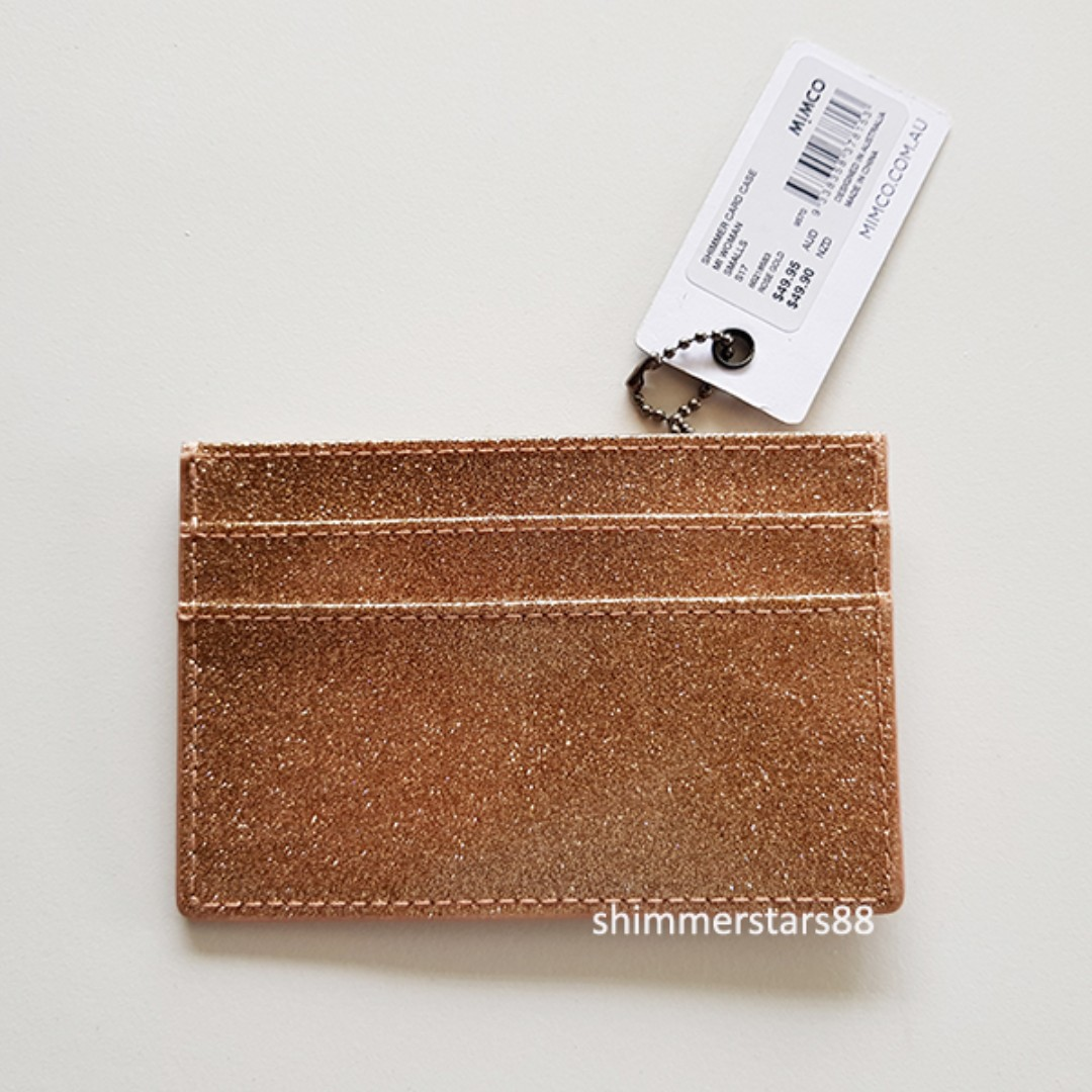 competitive price 0a51e ab03b New! Mimco Shimmer Card Case Rose Gold RRP$49.95, Women's Fashion ...