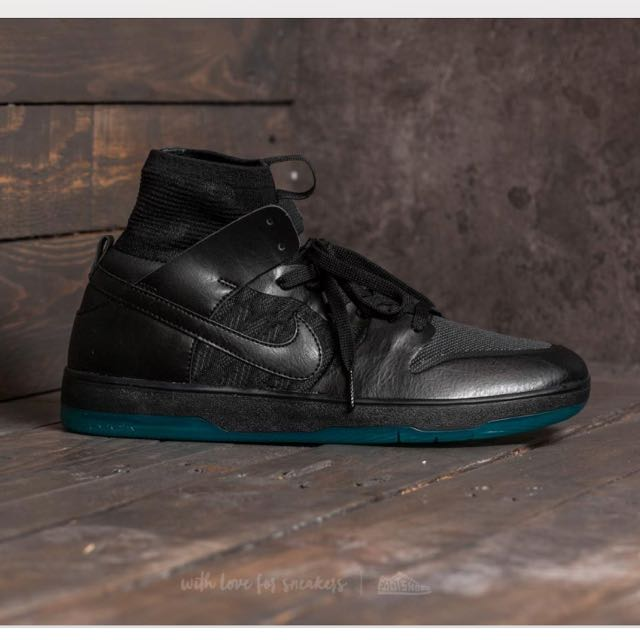 quality design 7e923 4318a Nike SB dunk high elite black, Men's Fashion, Footwear on ...