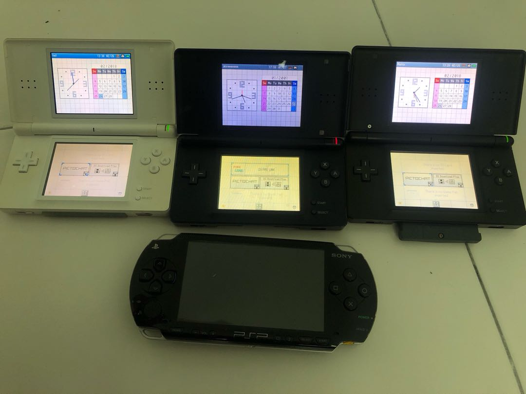 Nintendo DS Lite and PSP