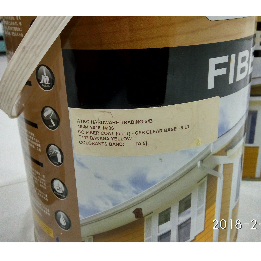 Nippon Fibercote Acrylic Water Based Paint
