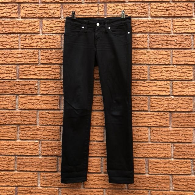 Nobody low waisted, black denim jeans