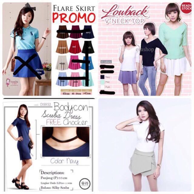 Obral new zara skort look forever21 flare skirt dress top
